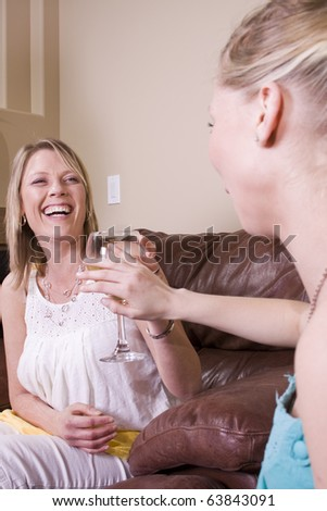 Teenager refuses a Drink from Her Mother