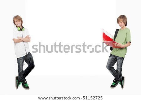 Teenager student studying and relaxing - stock photo