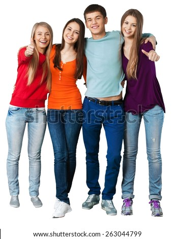 Teenager, Student, Teenagers Only. - stock photo
