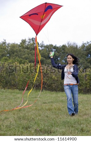 Teenager with kite