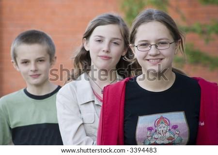 teenagers - stock photo
