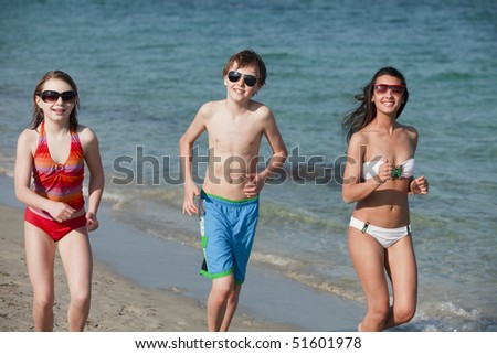 Teenagers at the Beach
