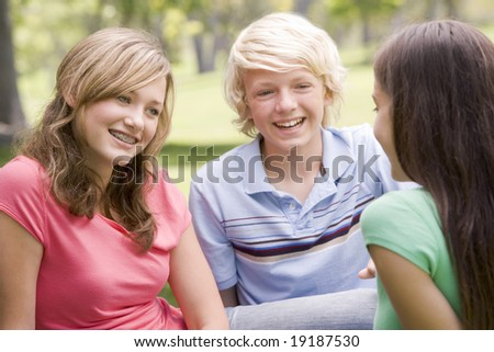 Teenagers Chatting Outside