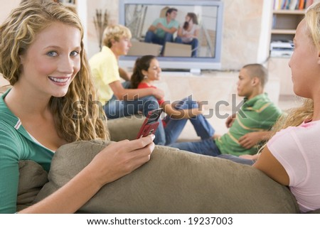 Teenagers Hanging Out Together - stock photo