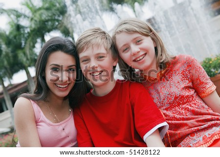Teenagers having Fun - stock photo