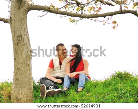 Teenagers outdoor, beautiful scene