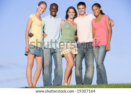 Teenagers Outdoors - stock photo