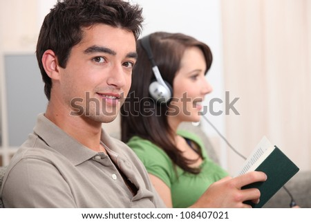 Teens hanging out - stock photo