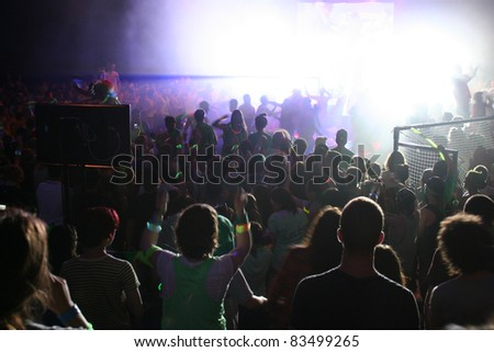 Teens having a party - stock photo
