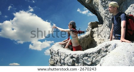 Teens overview Crimea panorama - stock photo