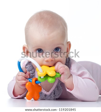 Teething baby biting toy