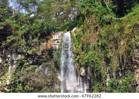 Tegenungan Waterfall, Bali, Indonesia - stock photo
