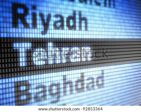 Tehran. World capitals  Full collection of icons like that is in my portfolio - stock photo
