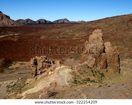 Teide volcano slope on  Tenerife - Canary Islands, Spain