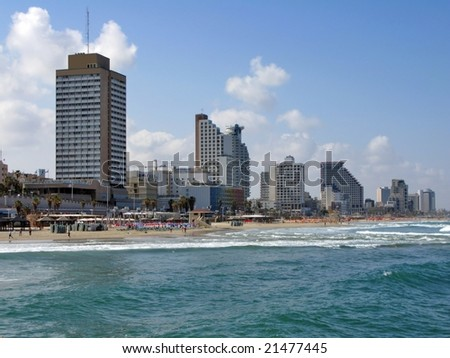 Tel Aviv beach - stock photo