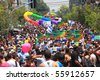 TEL AVIV - JUNE 11: Annual Gay Pride Parade and Week of Proud celebrations on the streets June 11, 2010 in Tel Aviv, Israel. - stock photo