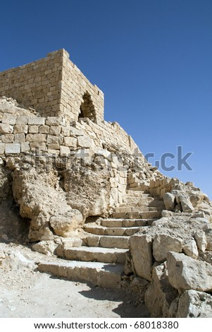Tel Maresha also Marissa, an antiquity site in Israel's southern lowlands - stock photo