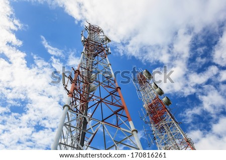 telecom self support tower