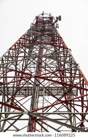 Telecom tower - stock photo