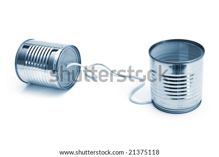 Telecommunication's cans - stock photo