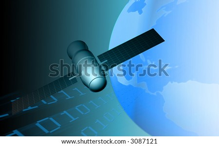 telecommunication satellite - stock photo
