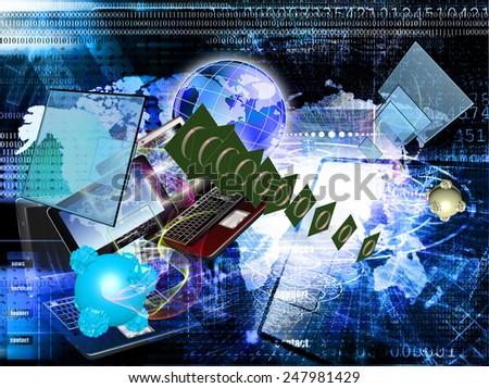 Telecommunication technologies.Connection - stock photo