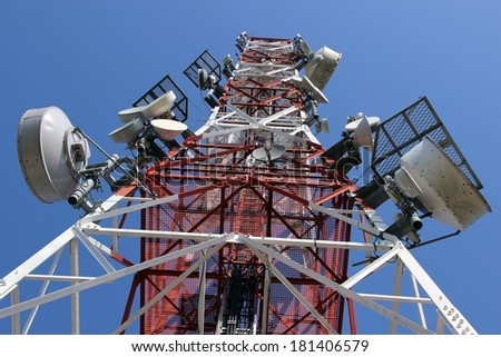 Telecommunications - stock photo