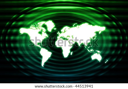 Telecommunications Industry Global Network as Art
