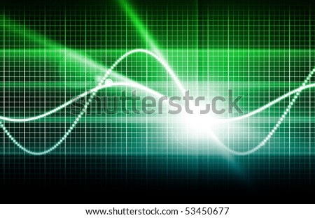 Telecommunications Industry with a World Map - stock photo