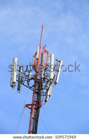 telecommunications tower - stock photo