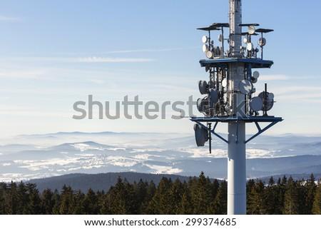 telecommunications tower, Austria - stock photo