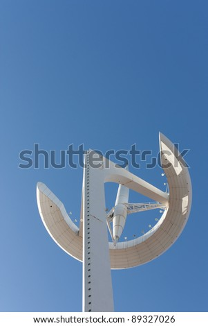 Telecommunications tower of the olympic village in Barcelona. Spain.
