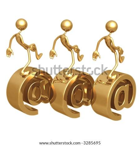 Telecommuting - stock photo