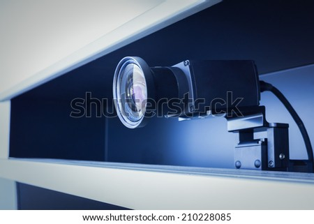 teleconference, video conference and telepresence camera - stock photo