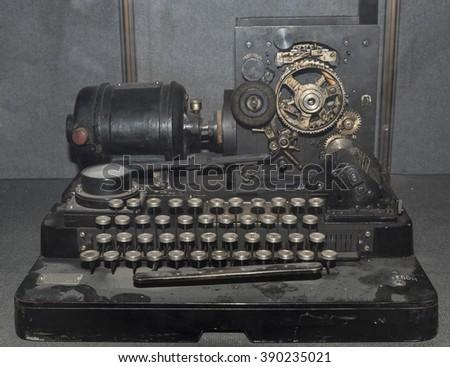 Telegraph apparatus (1928) - stock photo