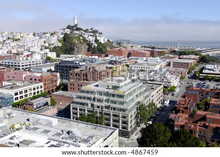 Telegraph Hill, San Francisco - stock photo