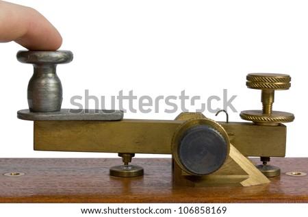 Telegraph Key Close-Up - stock photo