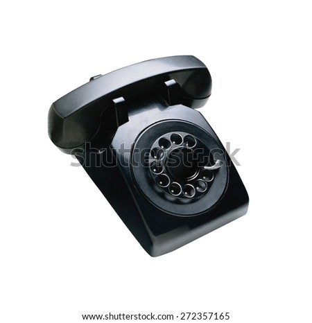 telephon with rotary dial - stock photo