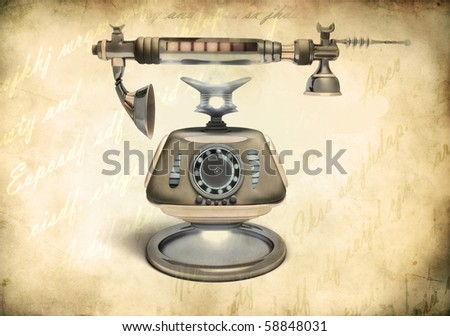 telephone and a receiver - vintage style