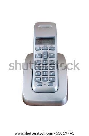 Telephone and base station - stock photo