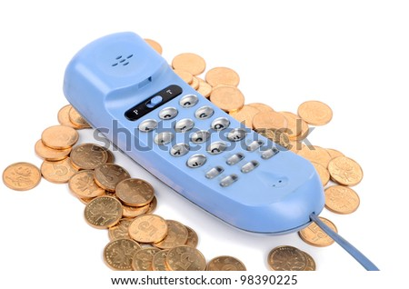 Telephone and coin