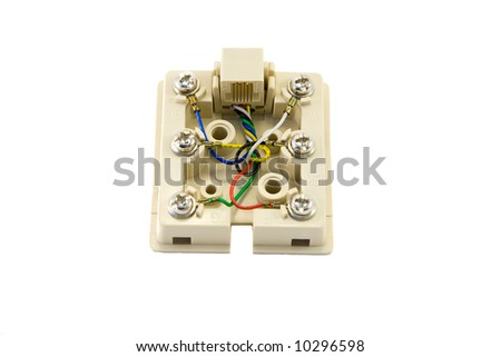 Telephone box of the plug - stock photo