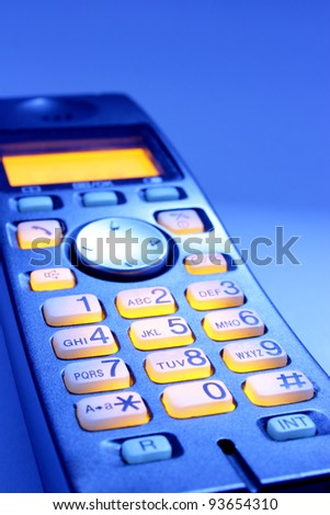 TELEPHONE BUTTONS - stock photo