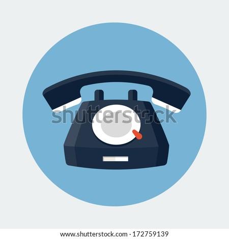 Telephone Icon  - stock photo