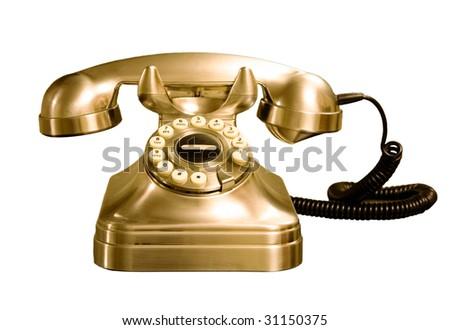 Telephone isolated - stock photo