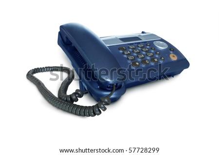 telephone isolated on white - stock photo