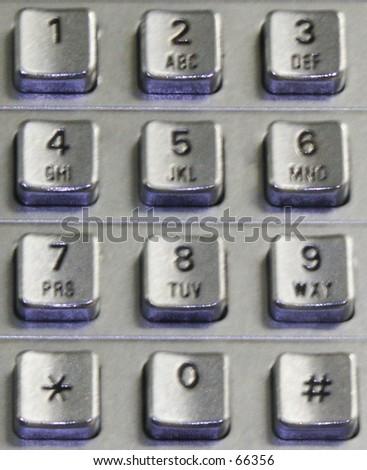 Telephone Keypad - stock photo
