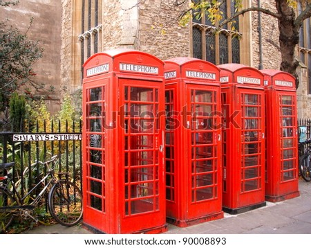 telephone Kiosks - stock photo