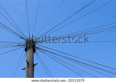 telephone lines - stock photo