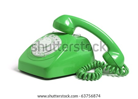 Telephone on Isolated White Background - stock photo